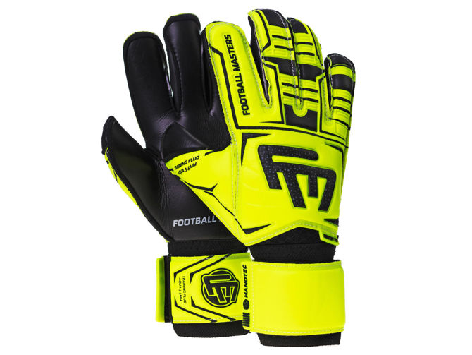 Rękawice Football Masters TRAINING FLUO BLACK AQUA MIXCUT FR JUNIOR v 3.0 (TRFAM3)